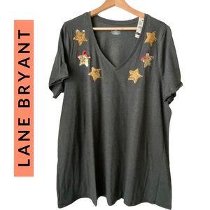 Lane Bryant Sequin Stars T-shirt NWT
